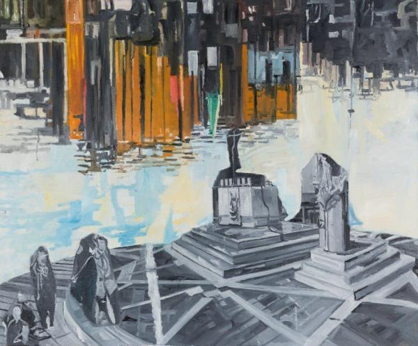 jasmir creed 'altar island' 2018 oil on canvas 120 x 90 cm
